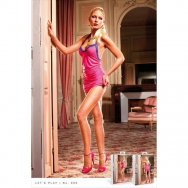 Пеньюар, Pink-Purple Lace Dress, B98-PINK PURPLE-OS