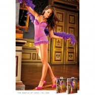 Пеньюар, Purple-Blue Ruffled Dress, B306-PURPLE BLUE-OS