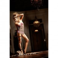 Пеньюар Leopard-Pink Lace Tube Dress, B72