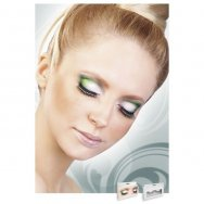 Реснички Black-Light Green Rhinestone Eyelashes (B590)