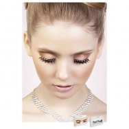 Реснички Black-Yellow Rhinestone Eyelashes (B572)