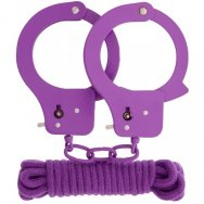 Бондажный набор BONDX METAL CUFFS & LOVE ROPE SET-PURPLE
