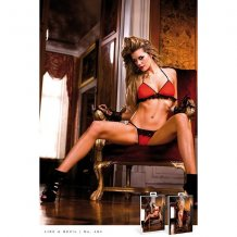 Комплект Red-Black Frilled Bikini Set, B464