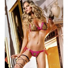 Комплект Leopard Bikini Set With Lacing, B74